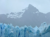 The beautiful Perito Morena glacier in Argentina on a very grey day