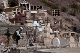 Cemetary in Purmamarca, Argentina