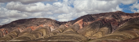 Colourful mountains in the Purmamarca region of the Andes, Argentina