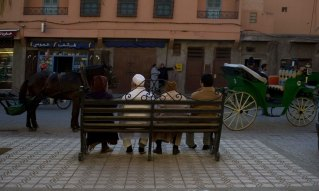 Evening chat in Marrakesh