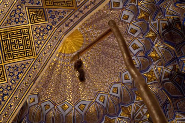 A warlord's horse tail in a mosque