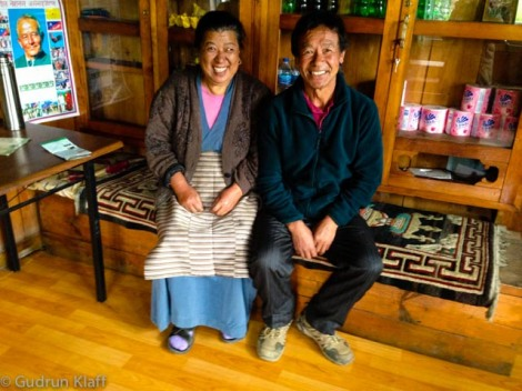 My landlords in Junbesi - Ang Domi and Ang Puti (Ang being a honorific)