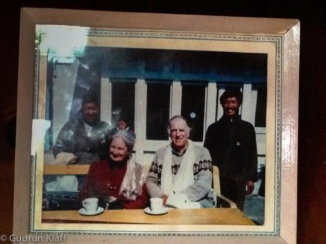 Sir Edmund Hillary, his second wife, and my landlords