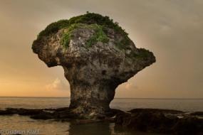 Liuqiu - ein berühmter Felsen auf einer winzigen Insel im Süden