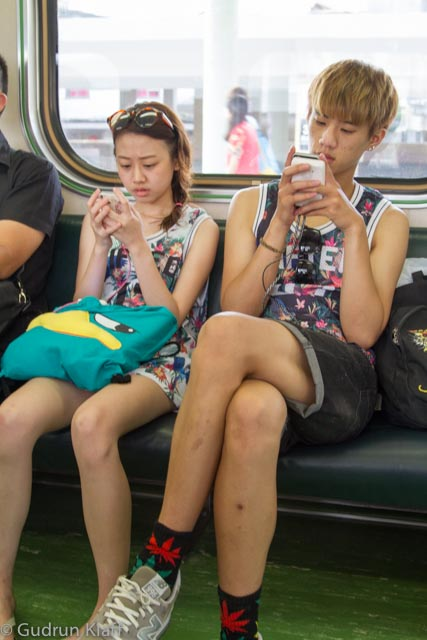 Taiwanese youth seems to have two modi - either on the smartphone or...