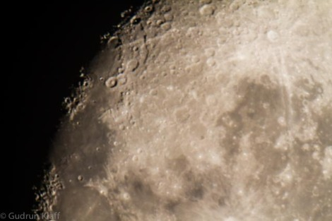The Moon through a telescope, San Pedro