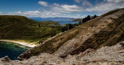 Isla del Sol, mit Blick auf Isla de la Luna