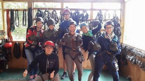 Die Reisegruppe - vor dem Ziplining